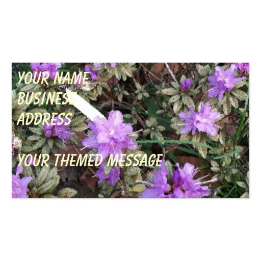Azaleas In Brush Strokes Double-Sided Standard Business Cards (Pack Of 100)