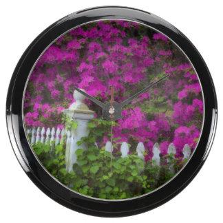 Azaleas in the spring at Historic Isle of Hope Aquarium Clock