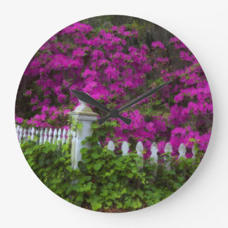 Azaleas in the spring at Historic Isle of Hope Wall Clock