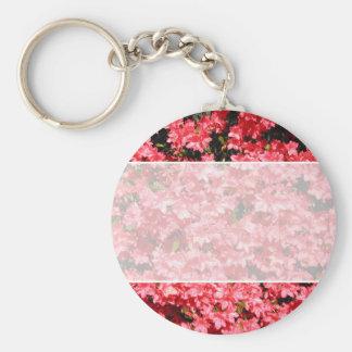 Azaleas. Pretty Pink Flowers. Keychain