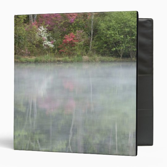 Azaleas relfecting in a pond during early 3 ring binder