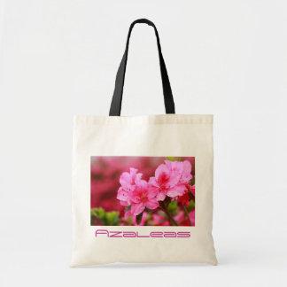 Azaleas rosadas bolsas de mano