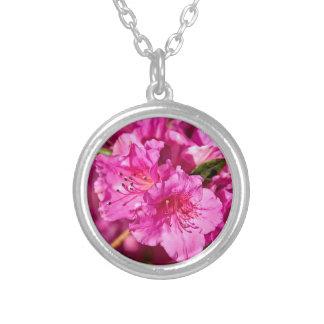 Azaleas rosadas colgante redondo