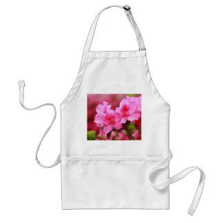 Azaleas rosadas delantales