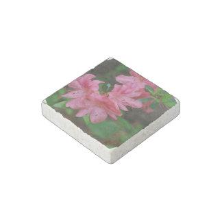 Azaleas rosadas imán de piedra