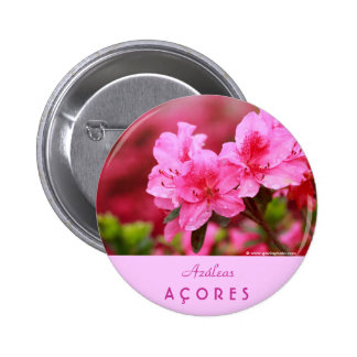 Azaleas rosadas pin redondo 5 cm