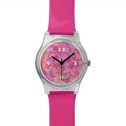 Azaleas sedosas reloj
