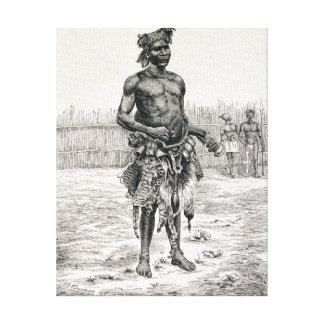 Azandeh  Binsa or Witch Doctor Canvas Print