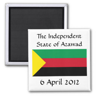Azawad Flag 2 Inch Square Magnet