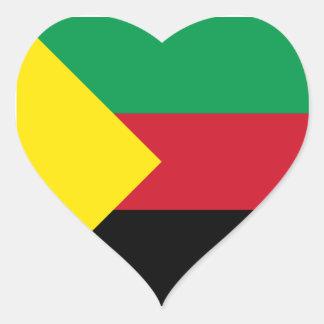 Azawad Flag Heart Sticker