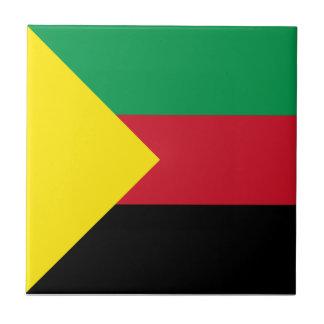 Azawad Flag Small Square Tile