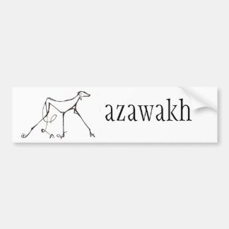 Azawakh Bumper Sticker Design by David Moore