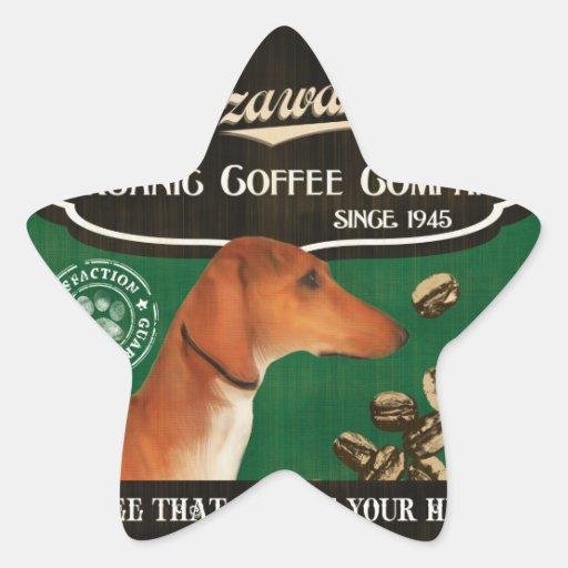 Azawakh - Organic Coffee Company Calcomanías Forma De Estrellas