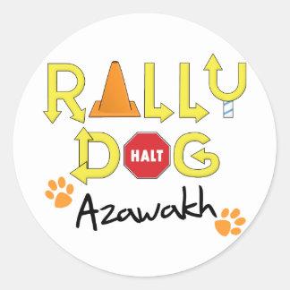 Azawakh Rally Dog Stickers