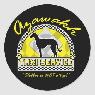 Azawakh Taxi Service Round Sticker