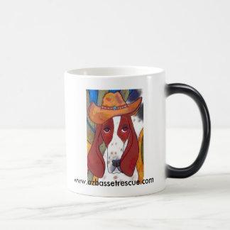 AZBHR Bungalowart.com Desert Hound 11 Oz Magic Heat Color-Changing Coffee Mug