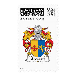 Azcarate Family Crest Stamp