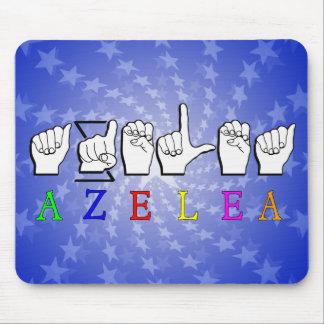 AZELEA  FINGERSPELLED ASL SIGN NAME FEMALE MOUSE PAD