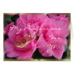 Azeleas & Gold Bfly-customize any occasion Card