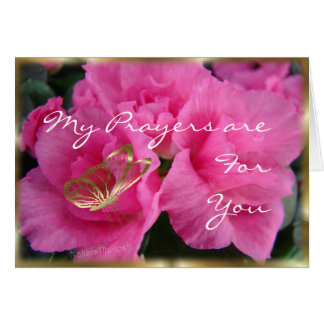Azeleas & Gold Bfly-customize any occasion Greeting Card