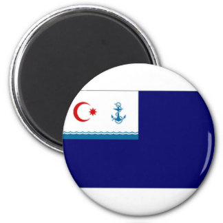 Azerbaijan Auxiliary Ensign Flag 2 Inch Round Magnet