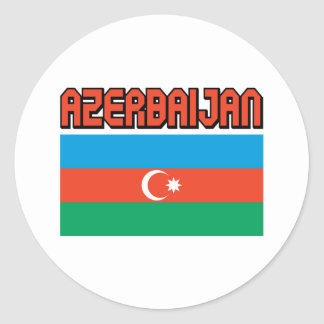 Azerbaijan Classic Round Sticker
