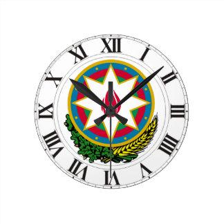 Azerbaijan Coat of Arms Wallclock