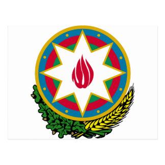 Azerbaijan Coat of Arms Postcard