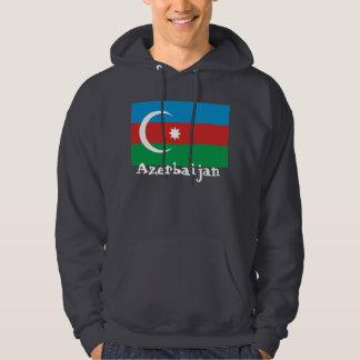 Azerbaijan con la bandera sudaderas con capucha