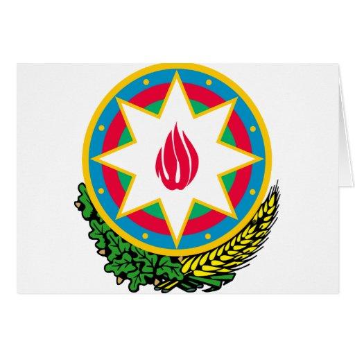 azerbaijan emblem card