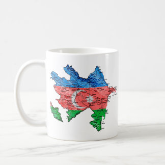 Azerbaijan eText ~ Flagcolor Map Mug