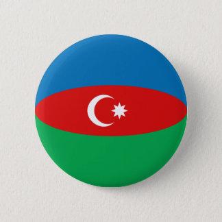 Azerbaijan Fisheye Flag Button