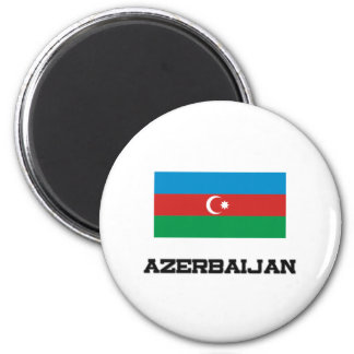 Azerbaijan Flag 2 Inch Round Magnet