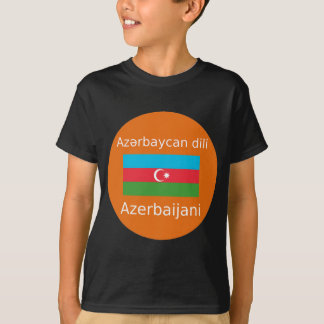 Azerbaijan Flag And Language Design T-Shirt