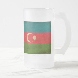 Azerbaijan Flag Frosted Glass Beer Mug