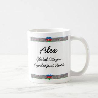 Azerbaijan Flag-hearts Map Customizable Mug