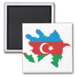 Azerbaijan Flag map AZ Magnet