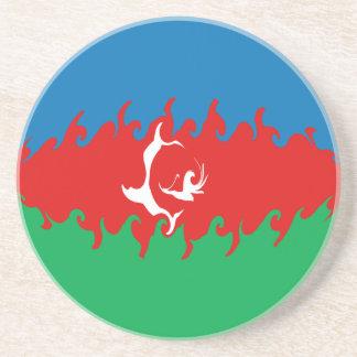 Azerbaijan Gnarly Flag Beverage Coasters