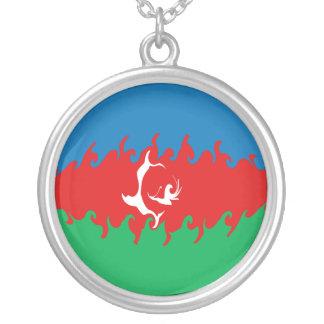Azerbaijan Gnarly Flag Pendant