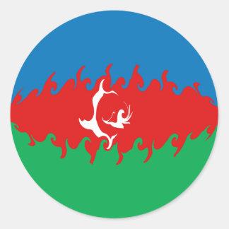 Azerbaijan Gnarly Flag Stickers