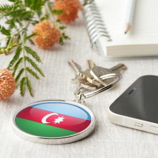 Azerbaijan - llavero redondo superior