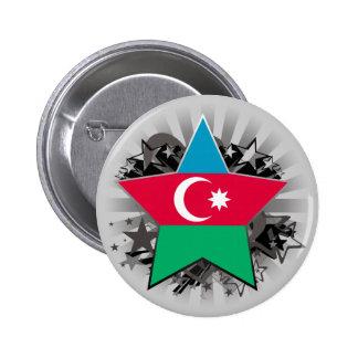 Azerbaijan Star 2 Inch Round Button