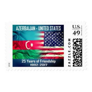 Azerbaijan & United States: 25 Years of Friendship Postage