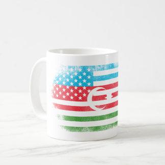 Azerbaijani American Flag   Azerbaijan and USA Coffee Mug