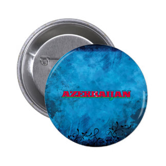Azerbaijani name and flag on cool wall 2 inch round button