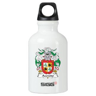 Azevedo Family Crest Aluminum Water Bottle