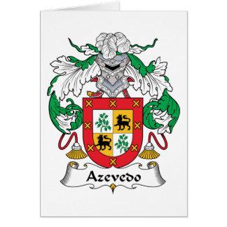 Azevedo Family Crest Card