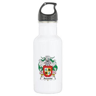 Azevedo Family Crest Water Bottle