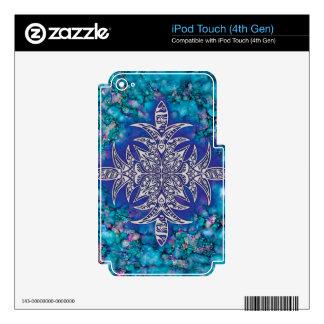 AZIBO105 Mandala Ink Painted iPod Touch 4G Skin