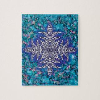 AZIBO105 Mandala Ink Painted Jigsaw Puzzle